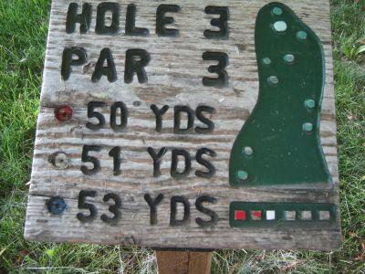 Park 96, Main course, Hole 3 Hole sign