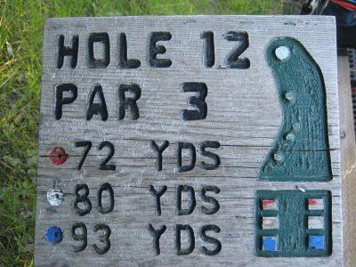 Park 96, Main course, Hole 12 Hole sign