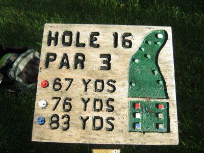 Park 96, Main course, Hole 16 Hole sign