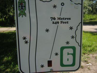 Centenary Park, Main course, Hole 6 Hole sign