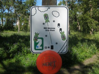 Centenary Park, Main course, Hole 2 Hole sign