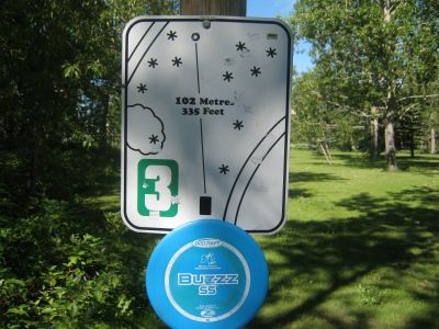Centenary Park, Main course, Hole 3 Hole sign