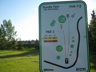 Rundle Park DGC, Main course, Hole 2 Hole sign