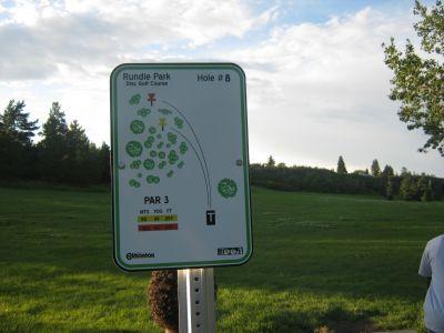 Rundle Park DGC, Main course, Hole 8 Hole sign
