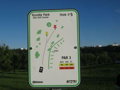 Rundle Park DGC, Main course, Hole 5 Hole sign