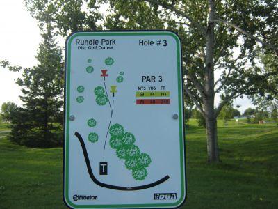 Rundle Park DGC, Main course, Hole 3 Hole sign