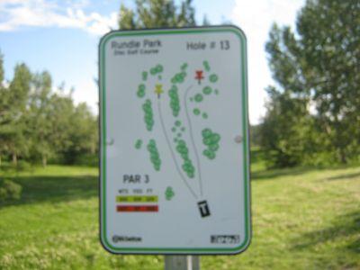 Rundle Park DGC, Main course, Hole 13 Hole sign