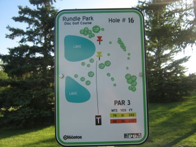 Rundle Park DGC, Main course, Hole 16 Hole sign