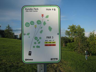 Rundle Park DGC, Main course, Hole 6 Hole sign