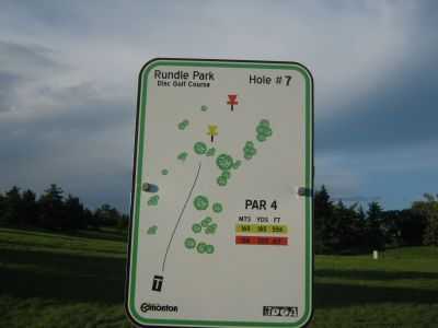 Rundle Park DGC, Main course, Hole 7 Hole sign