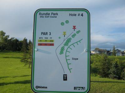 Rundle Park DGC, Main course, Hole 4 Hole sign