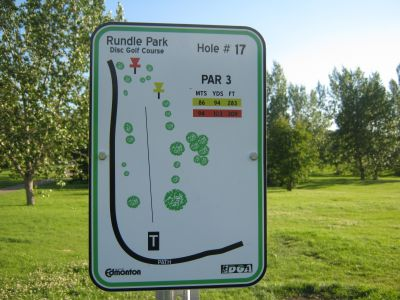 Rundle Park DGC, Main course, Hole 17 Hole sign