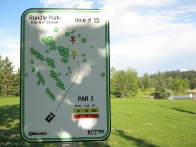 Rundle Park DGC, Main course, Hole 15 Hole sign