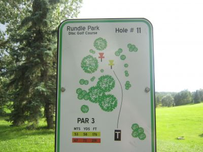 Rundle Park DGC, Main course, Hole 11 Hole sign