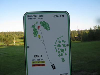 Rundle Park DGC, Main course, Hole 9 Hole sign