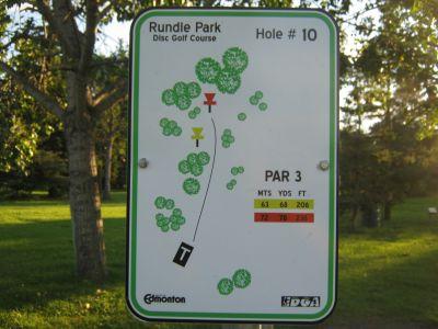 Rundle Park DGC, Main course, Hole 10 Hole sign