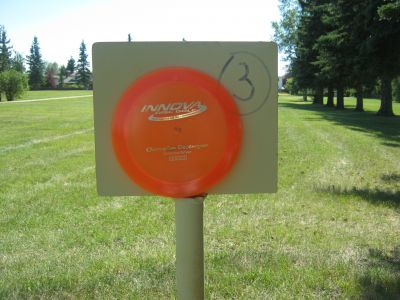 Walters Green, Main course, Hole 3 Hole sign