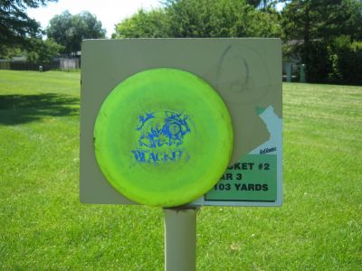 Walters Green, Main course, Hole 2 Hole sign