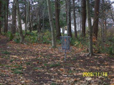 Village Park, Main course, Hole 5 Long tee pad