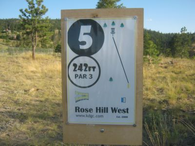 Rose Hill, Rose Hill West, Hole 5 Hole sign