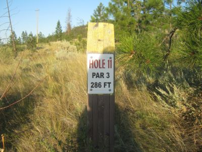 Rose Hill, Rose Hill West, Hole 11 Hole sign