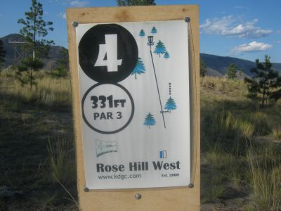 Rose Hill, Rose Hill West, Hole 4 Hole sign