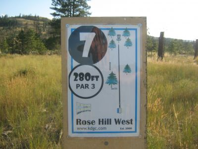 Rose Hill, Rose Hill West, Hole 7 Hole sign
