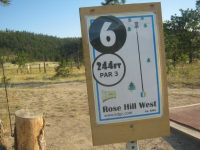 Rose Hill, Rose Hill West, Hole 6 Hole sign