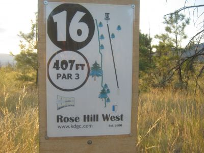 Rose Hill, Rose Hill West, Hole 16 Hole sign