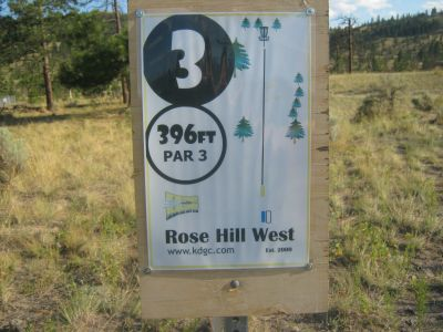 Rose Hill, Rose Hill West, Hole 3 Hole sign