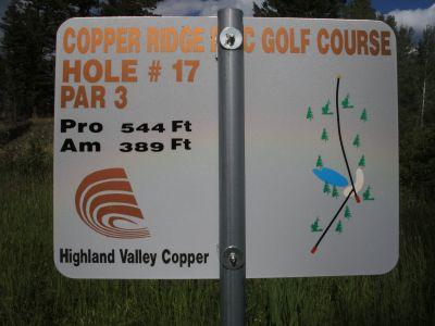 Copper Ridge, Main course, Hole 17 Hole sign