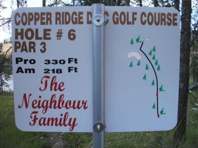 Copper Ridge, Main course, Hole 6 Hole sign