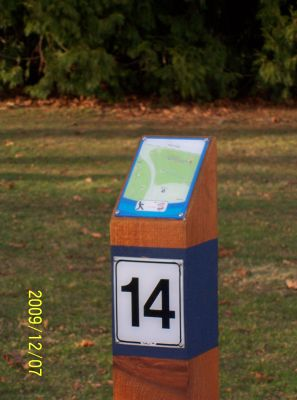 Bowen Park, Main course, Hole 14 Short tee pad