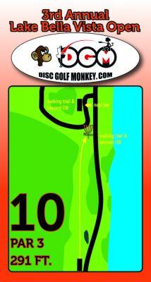 Lake Bella Vista, Main course, Hole 10 Hole sign