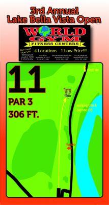 Lake Bella Vista, Main course, Hole 11 Hole sign