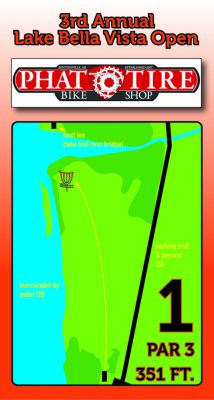 Lake Bella Vista, Main course, Hole 1 Hole sign