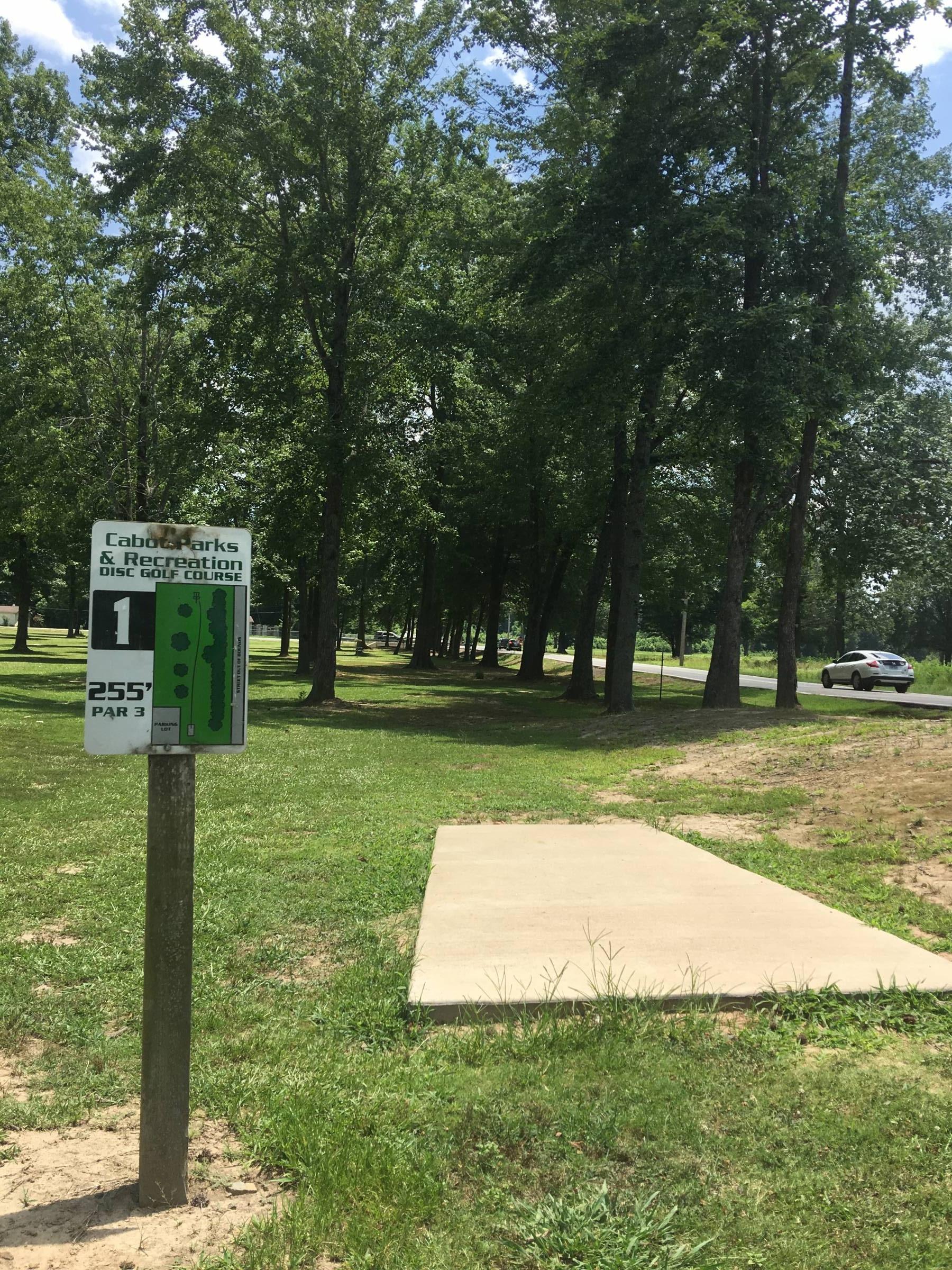 Hole 1 • Kerr Station Park (Cabot, AR) | Disc Golf Courses ...
