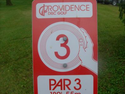 Providence College, Main course, Hole 3 Hole sign