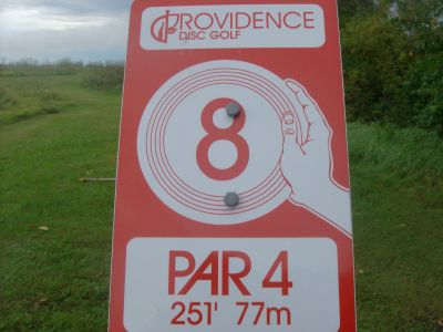 Providence College, Main course, Hole 8 Hole sign