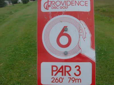 Providence College, Main course, Hole 6 Hole sign