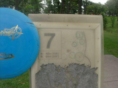 Happyland Park, Main course, Hole 7 Hole sign