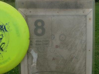 Happyland Park, Main course, Hole 8 Hole sign