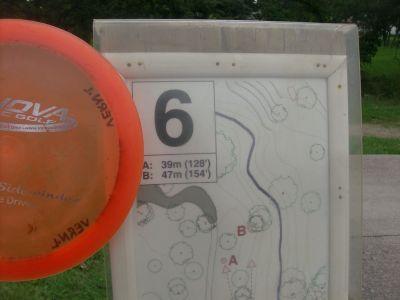 Happyland Park, Main course, Hole 6 Hole sign