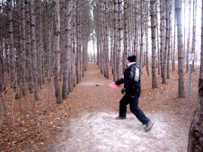 White Spruce Park, Main course, Hole 9 Long tee pad