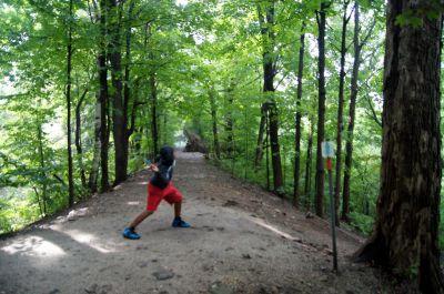 White Spruce Park, Main course, Hole 3 Tee pad