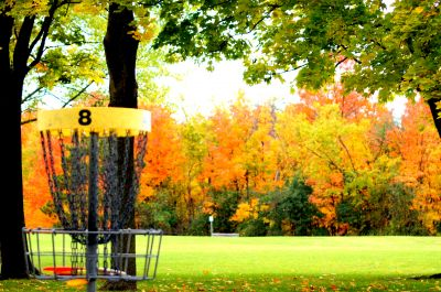 White Spruce Park, Main course, Hole 8 Reverse (back up the fairway)