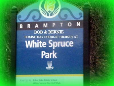 White Spruce Park, Main course, Hole 9 Hole sign