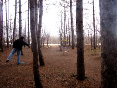 White Spruce Park, Main course, Hole 9 Putt