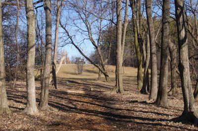 White Spruce Park, Main course, Hole 18 Tee pad