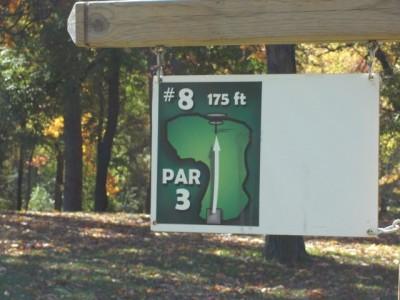 Mohawk DGC, Main course, Hole 8 Hole sign